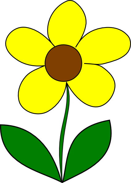Yellow Flower Clip Art at Clker.com - vector clip art ...