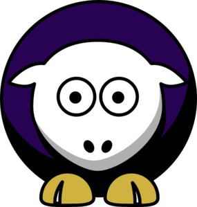 Sheep 4 Toned Baltimore Ravens Colors Clip Art