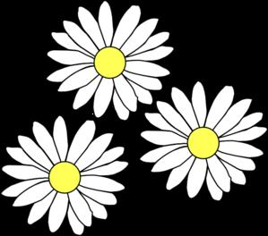 3 Daisies Clip Art At Clker Com Vector Clip Art Online