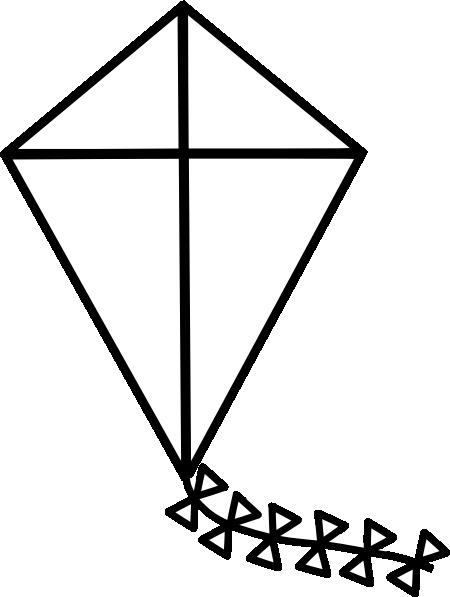 Line Art Kite : Kite clip art at clker vector online