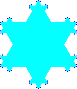 Snow Flake Cartoon Clip Art