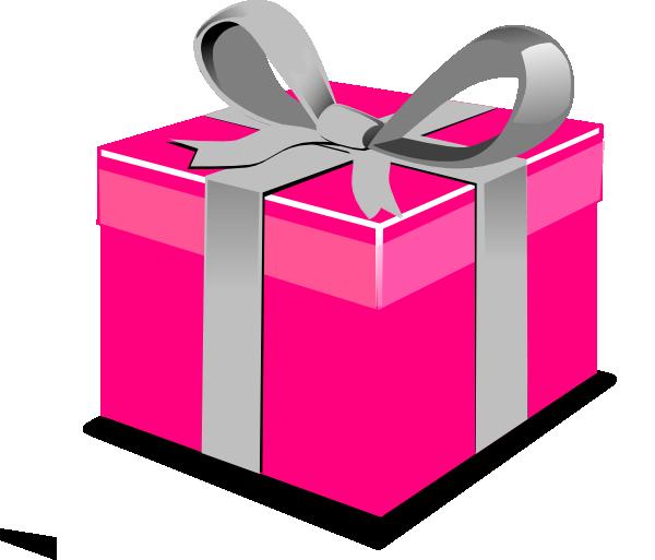 Pink Present Box Clip Art at Clker.com - vector clip art ...