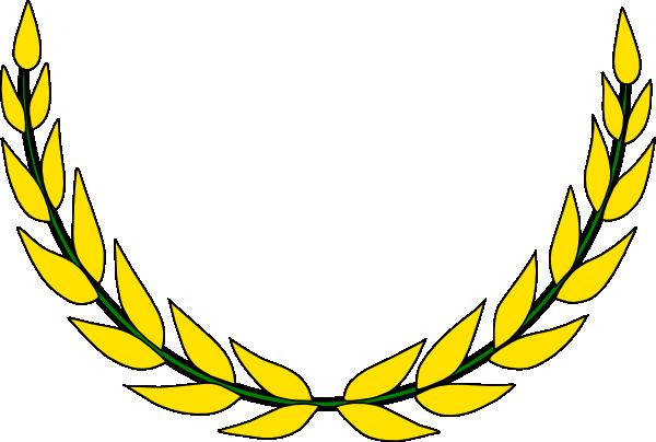 gold olive wreath 1 2 clip art at clker com vector clip  Wheat Harvest