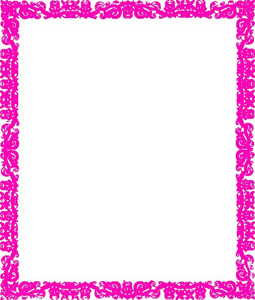 Pink Frame Clip Art At Clker Com Vector Clip Art Online