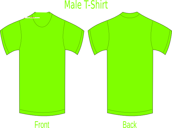 Neon Green T Shirt Clip Art At Vector Clip Art