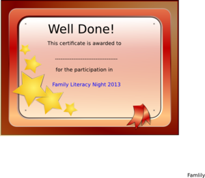 participation certificate clip art at clker com vector clip art