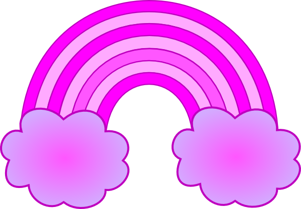 Purple And Pink Rainbow With 2 Clouds Clip Art at Clker ...