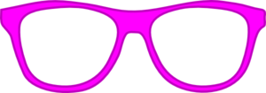 Pink Glasses Frame Front Clip Art
