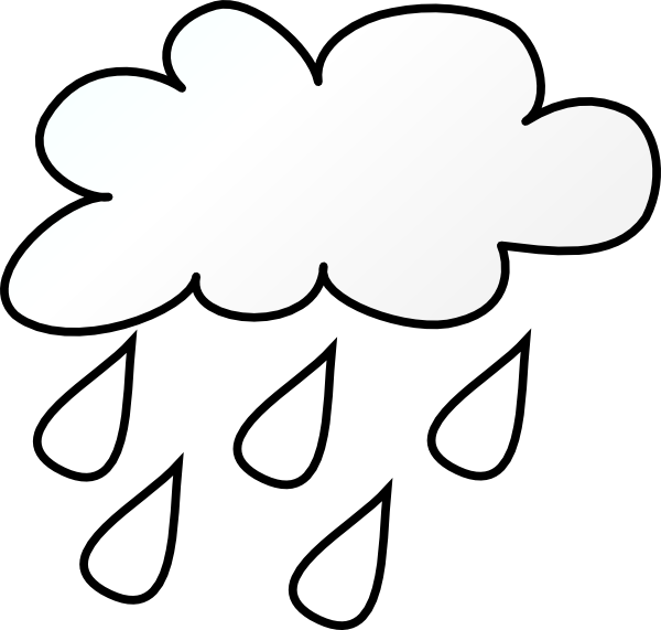 Raining Cloud Outlne Clip Art at Clker.com - vector clip ...