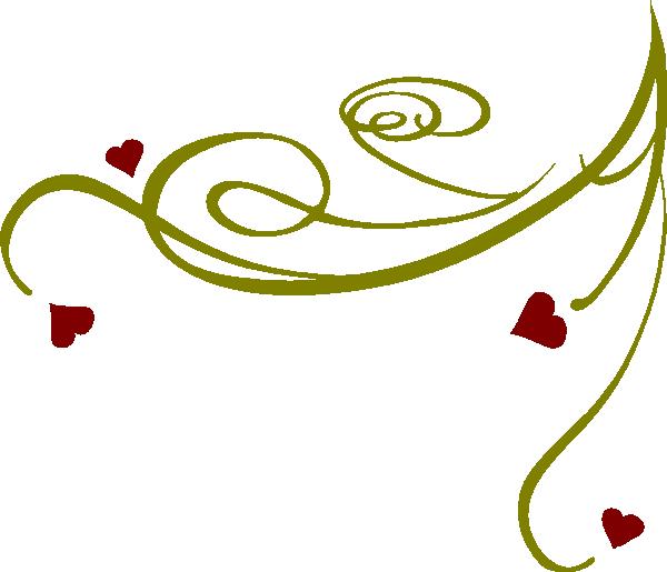 decorative swirl hearts clip art at clkercom vector