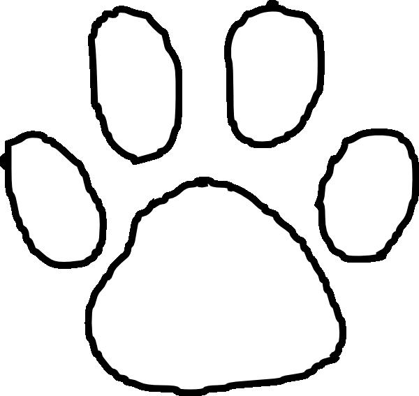 tiger paw print outline clip art at clker com vector footprints clip art free download footprints clip art pictures