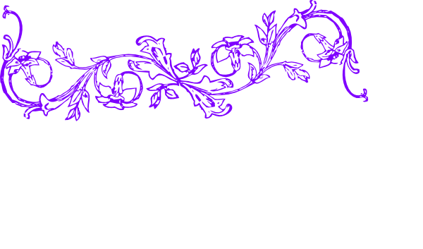 Flower Frame Purple Luke Horiz Clip Art At Clker Com