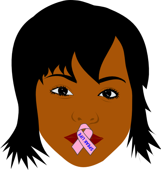 African American Woman Speak Life Clip Art At Clker Com