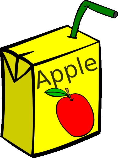 Line Art Juice : Apple juice box clip art at clker vector