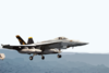 An F/a-18e Super Hornet Configured In The Mission Tanker Role Clears The Flight Deck During Combat Flight Operations Aboard Uss Abraham Lincoln (cvn 72) Clip Art