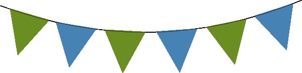 Green Blue Bunting Clip Art at Clker.com - vector clip art ...