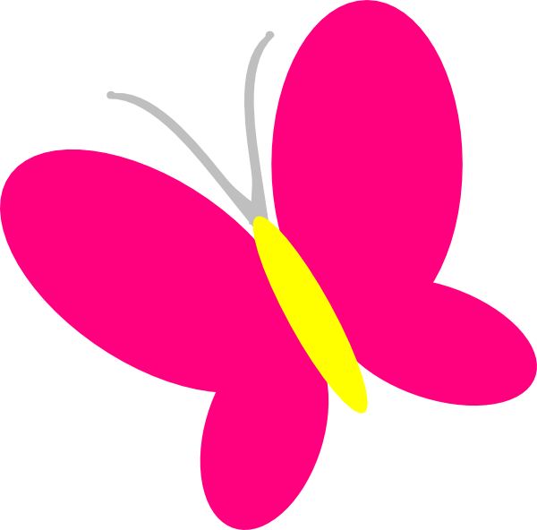 pink butterfly clip art at vector clip art online royalty free public domain. Black Bedroom Furniture Sets. Home Design Ideas