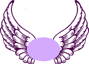 Violet Guardian Angel Wings Clip Art