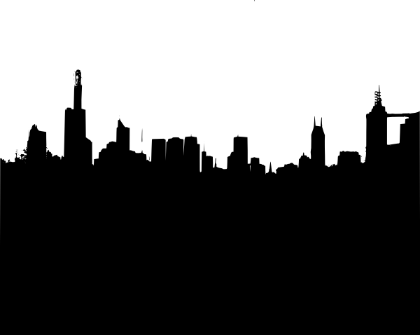 Large Black City Skyline Clip Art at Clker.com - vector ...
