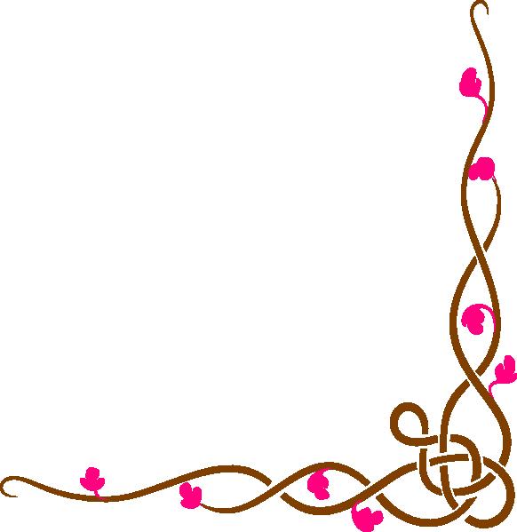 Long Floral Border Clip Art at Clker.com - vector clip art ...