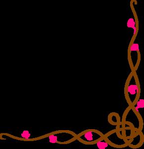 long floral border clip art at clkercom vector clip art