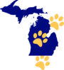 Michigan Paw Clip Art