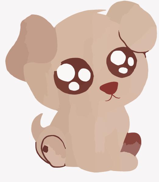 a cute puppy clip art at clker - vector clip art online