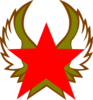 Red Star With Gold Wings Clip Art