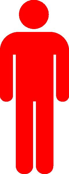 red person symbol clip art at clker com