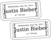 Ticket Beiber  Clip Art