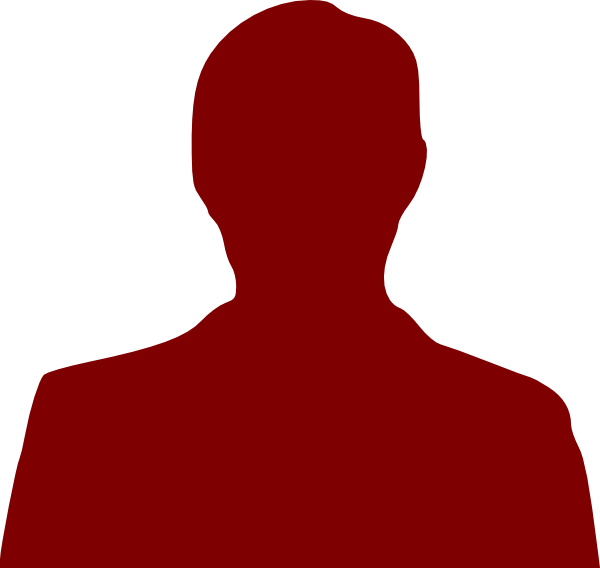 Person Outline Dark Red Clip Art At Clker Com Vector