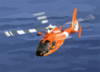 Coast Guard Hh-65a Rescue Helicopter Performs A Homeland Security Flight Over The Waters Of Near Oahu, Hawaii Clip Art