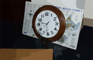 Clock Frozen At The Time Of Impact Clip Art