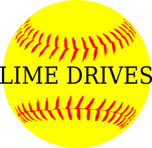 Softball Yellow Lime Drives Clip Art