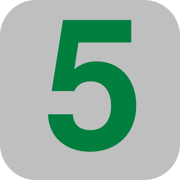 Number 5 Grey Flat Icon Clip Art At Clker Com