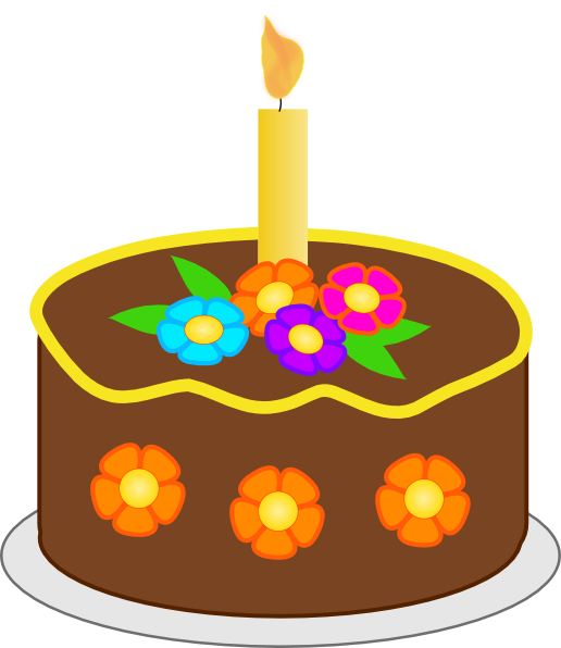 Chocolate Birthday Cake Clip Art At Clker Com Vector