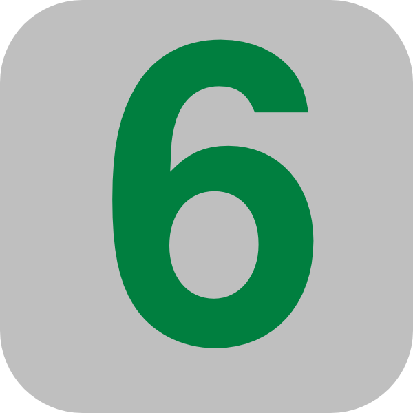 Number 6 Grey Flat Icon Clip Art At Clker Com