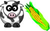 Cow And Corn Clip Art