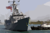The Guided Missile Frigate Uss Crommelin (ffg 37) Returns To Her Home Port After A Six-month Deployment In The U.s. Naval Forces Southern Command Area Of Responsibility (aor) Clip Art