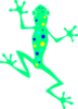 Lime Spotted Frog Clip Art