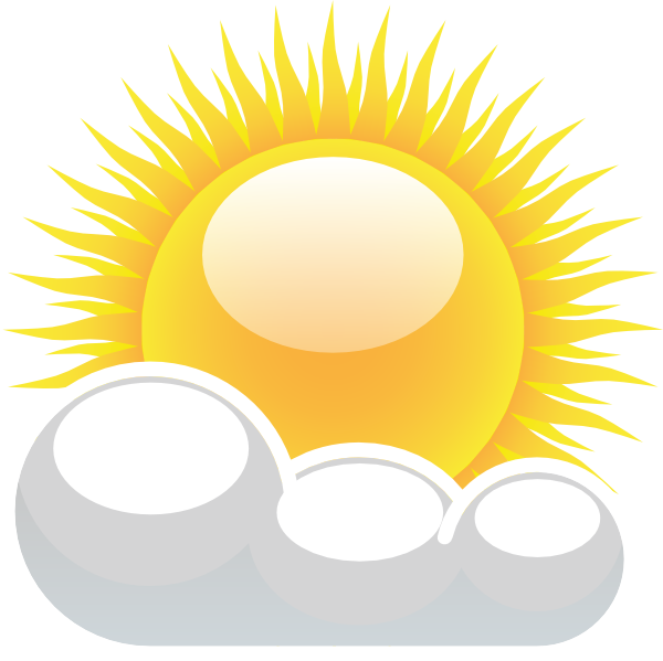 partly cloudy with sunshine clip art at clker com vector Free Sun Clip Art rain clipart free