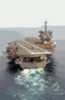 The Nuclear Powered Aircraft Carrier Uss Enterprise (cvn 65) Steams Along In The Atlantic Ocean During The Final Stages Of An Ordnance On-load. Clip Art