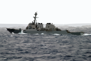 He Guided Missile Destroyer Uss Curtis Wilbur (ddg 54) Underway After Completing An Underway Replenishment With The Aircraft Carrier  Uss Kitty Hawk (cv 63). Clip Art