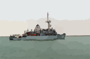 U.s. Navy Mine Counter Measures Ship Uss Dextrous (mcm 13) Patrols The Waters During Mine Clearing Operations In The Klawr Abd Allah (kaa) Waterway. Clip Art