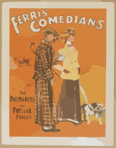 Ferris  Comedians The Pacemakers At Popular Prices. Clip Art