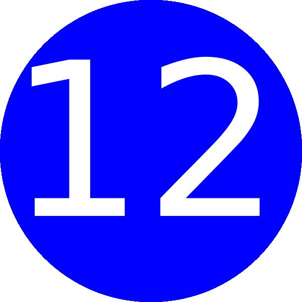 Number 12 Blue Background Clip Art At Clker Com
