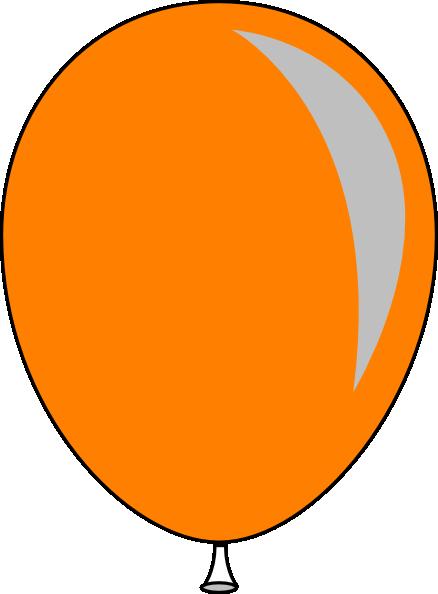 Orange Baloon Clip Art At Clker Com Vector Clip Art