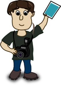 Man With Photo Clip Art