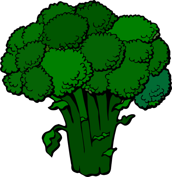 Dark Broccoli Clip Art at Clker.com - vector clip art ...