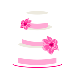 Pink Wedding Cake Topper